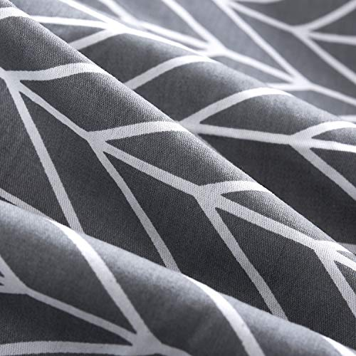 Chevron Zig Zag Geometric Modern Pattern Printed on Gray with Zipper Closure Grey Duvet Cover Set 3pcs, Full//Double Size 100/% Soft Cotton Bedding Wake In Cloud