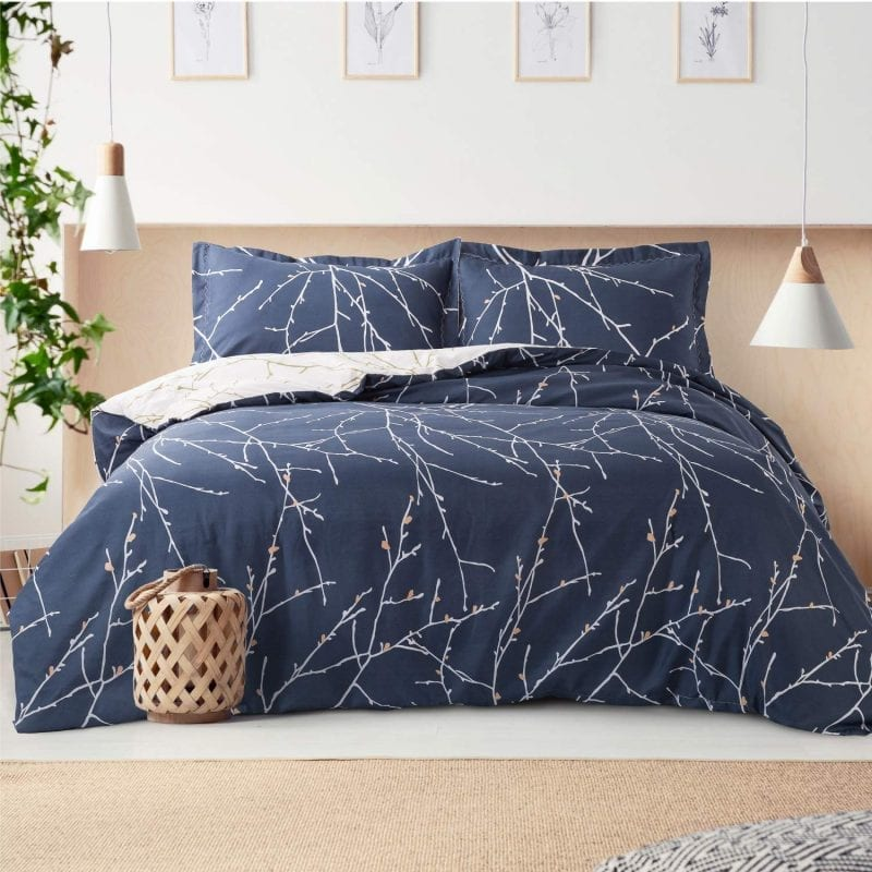 Bedsure Duvet Covers Set | Branch Pattern Reversible Microfiber