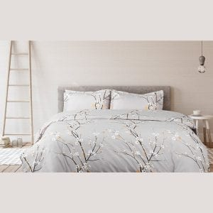 Bedsure Duvet Covers Queen/Full Size Spring Bloom Grey