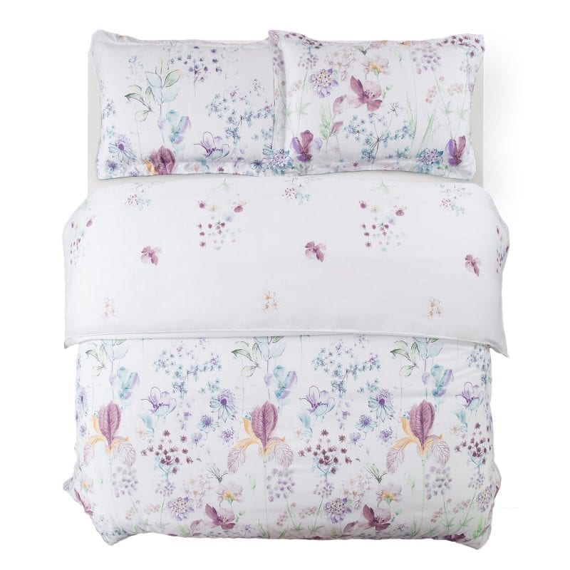 Bedsure duvet covers 3 pc set queen/full size floral white