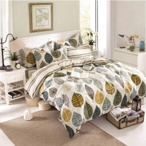Colorful Leaf Duvet Covers 3 pc King Size set